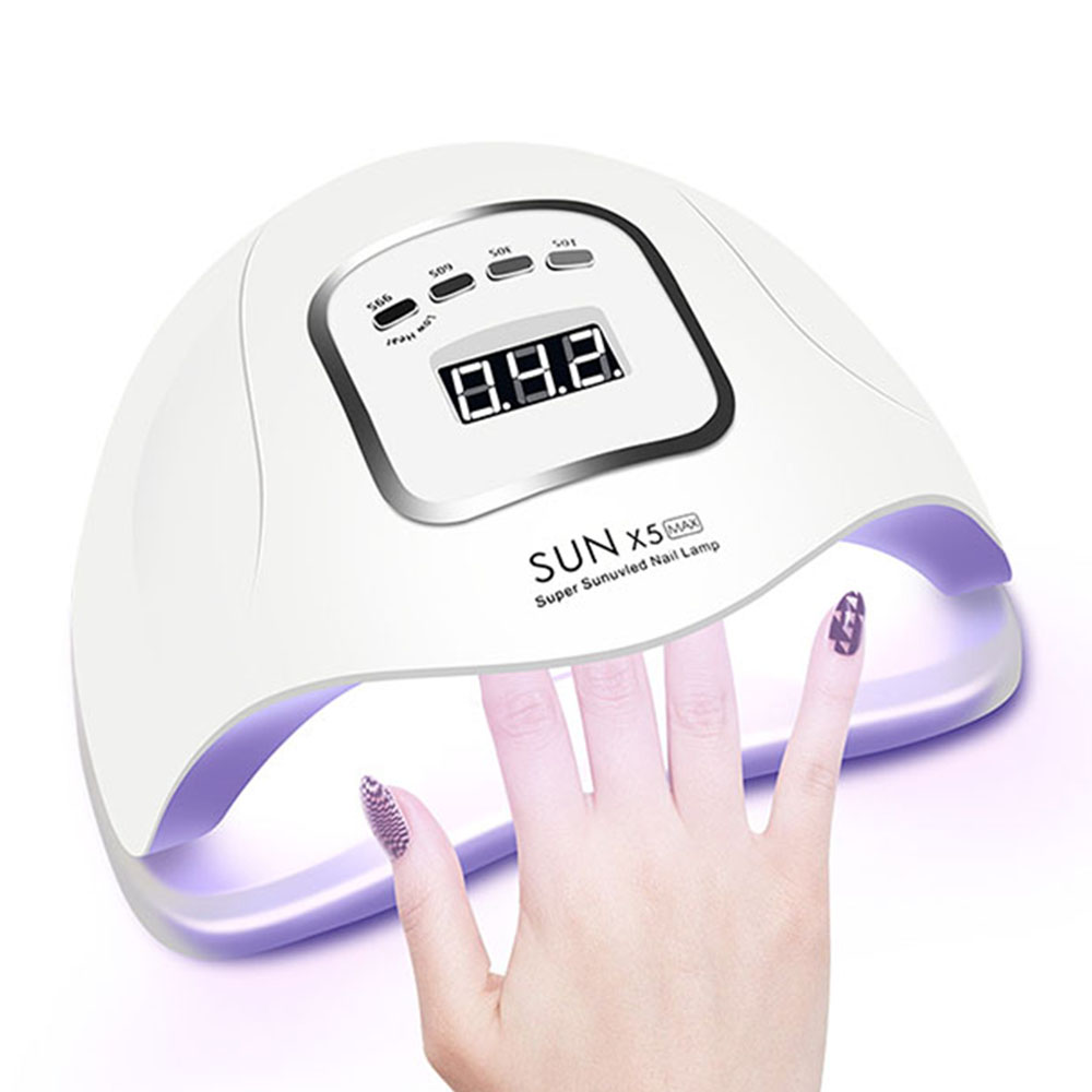 Nail <font><b>Lamp</b></font> <font><b>80W</b></font> <font><b>UV</b></font> <font><b>Lamp</b></font> for Manicure 45 PCS <font><b>LEDs</b></font> Nail Dryer with Motion sensing LCD Display For Quick Curing <font><b>UV</b></font> Gel Nail Polish image