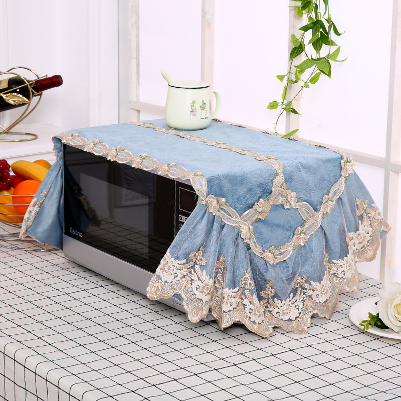 Microwave Oven Cover Garden Lace Cloth Cover, Oil Proof, Dustproof And Washable Korean Electric Oven Cover