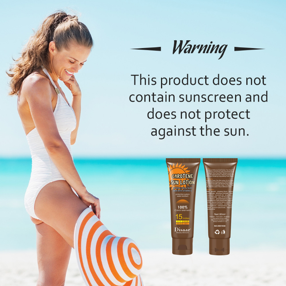 Carotene Sun Lotion Long Lasting Sunless Tanning Self Organic Self Tanner Bronze Fake Tan Body Lotion 80g 1