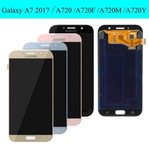 Image 2 - Оригинальный дисплей 5,7 для Samsung Galaxy A7 2017 ЖК дисплей A720M A720Y A720F A720 сенсорный экран дигитайзер в сборе запасные части
