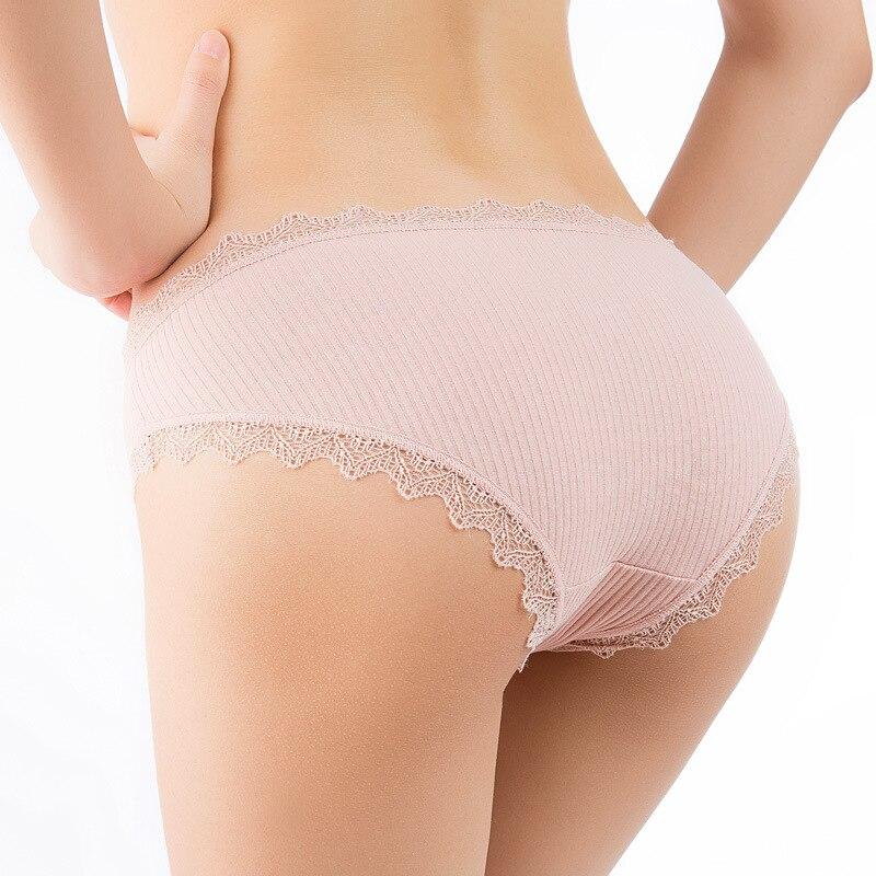 Fashion Women Panties Sexy Lace Panties Women's Cotton Ultra Soft Briefs Seamless Cute Bow Girls Briefs Soft Comfort Lingerie