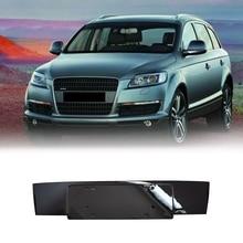 Car Front Bumper License Bracket Plate Bright Black for- Q7 2010 2011-2015 4L0807285
