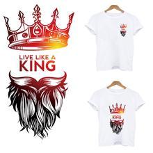 Термонаклейки для одежды корона лев полосы термо Стикеры на