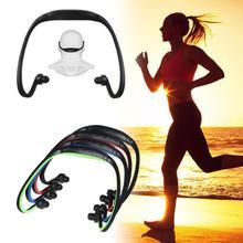 Модные спортивные наушники, гарнитура, mp3 плеер, Micro SD, TF, бас, наушники для бега, бегунов, ходунков