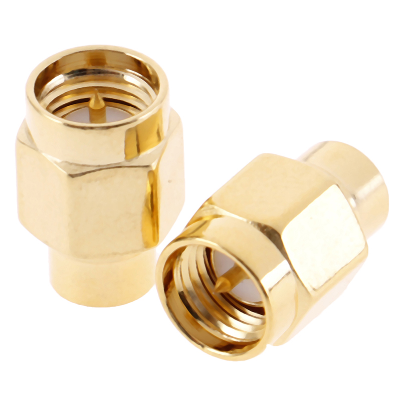 2pcs <font><b>SMA</b></font> Male RF Coaxial Termination Dummy Load Gold Plated Cap Connectors Accessories 2W 6 GHz <font><b>50</b></font> ohm image