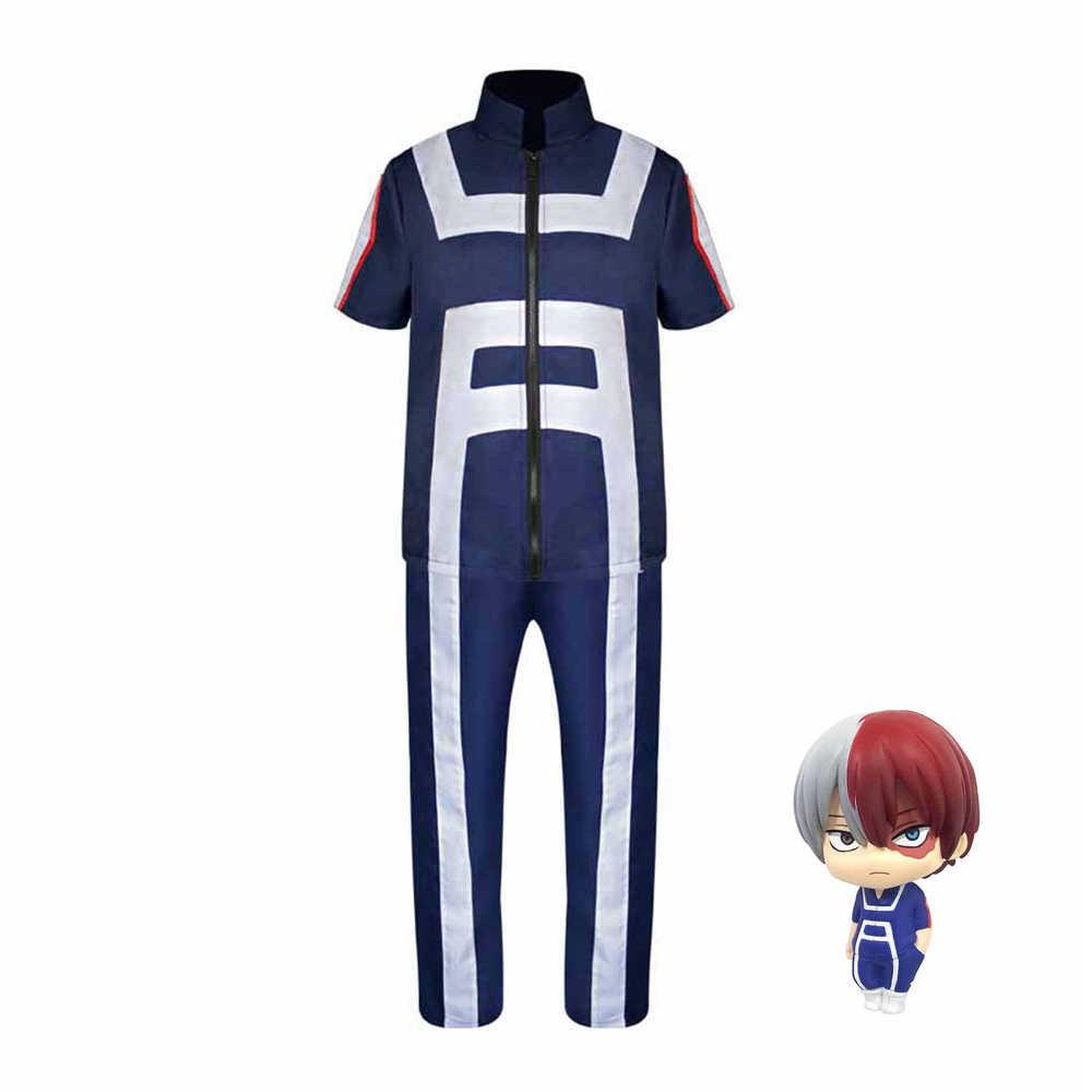 อะนิเมะ Boku NO HERO Bakugou Katsuki/Iida Tenya/Todoroki Shouto คอสเพลย์เครื่องแต่งกาย My HERO Academia กีฬา Tops + กางเกง