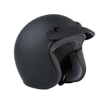 S/M/L/XL DOT 3/4 Open Face Adult Motorcycle Helmet Scooter Matte Black цена 2017
