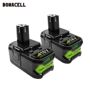 Image 1 - Литий ионный перезаряжаемый аккумулятор Bonacell 18 в 4000 мАч P108 P 108 для Ryobi RB18L40 P2000 P310 для BIW180 L30