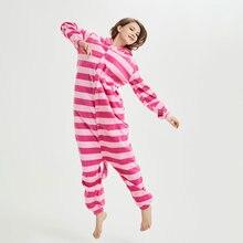 Cheshire Cat Kigurumi Unisex Couple Animal Onesie Funny Pajama Jumpsuit Women Adult Cartoon Anime Pijama Overalls Festival Suit