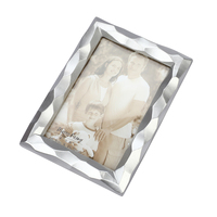 3D Home Decor Geometric Shape Photo Frame Creative Square Picture Frame Photo Holder Home Decoration Furnishing Articles(Silver)