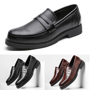 Image 1 - الرجال فستان أحذية البروغ نمط باتي الجلود أحذية الزفاف الرجال الجلود أوكسفورد الأحذية الرسمية