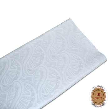 FEITEX White Color Bazin Riche Getzner African Fabric High Quality 2018 Guinea Jacquard Brocade For Men Party 10Yards / Lot - DISCOUNT ITEM  19 OFF Home & Garden