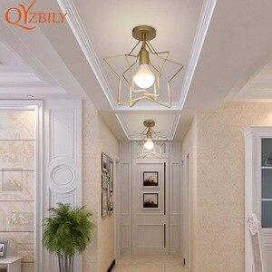 Image 5 - Потолочный светильник, железная лампа с металлическим основанием, светодиодный светильник для гостиной, комнасветильник освещение в стиле лофт и дома, Металлическая лампа с птицами для поверхностного монтажа