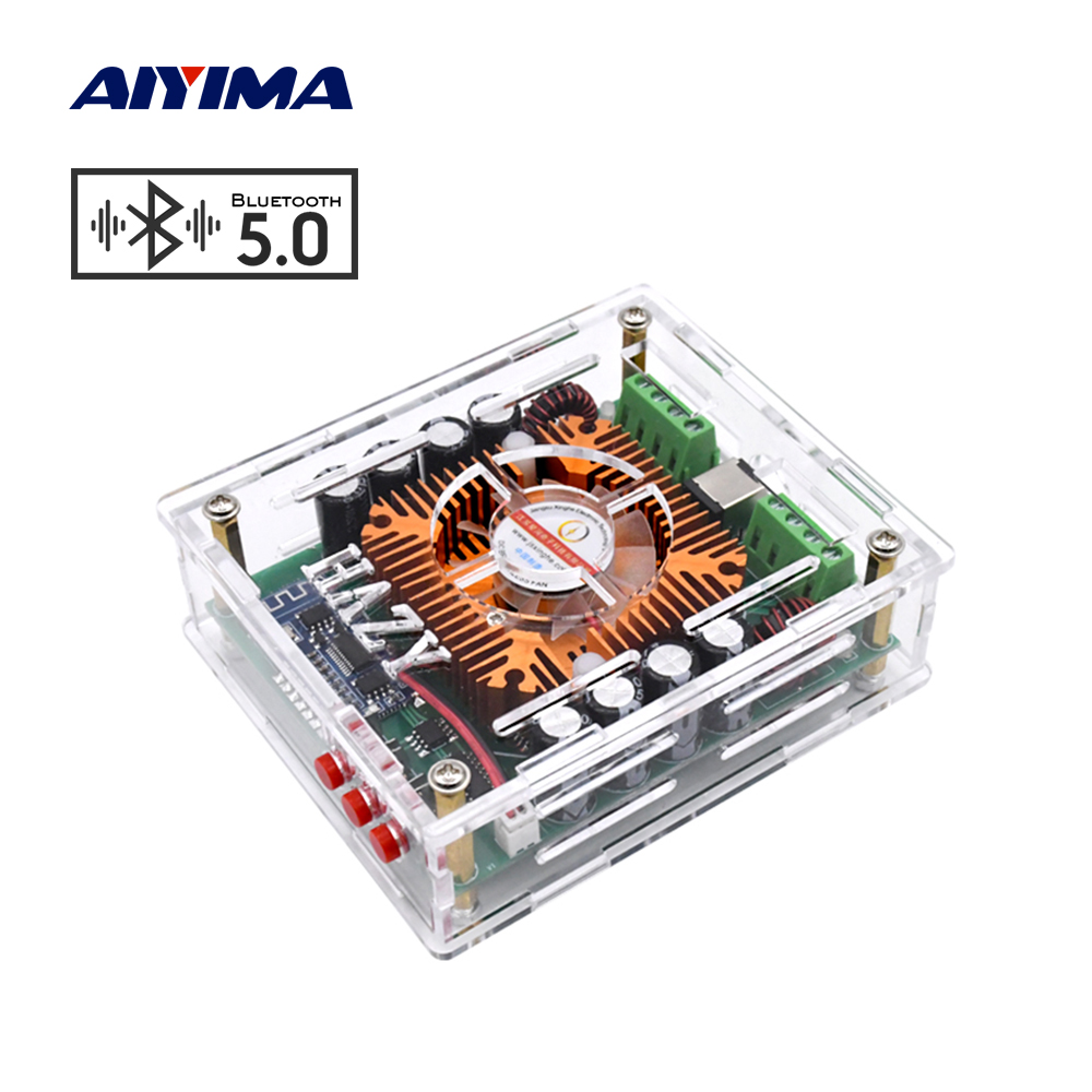 AIYIMA TDA7850 Class AB Bluetooth 5.0 Power Amplifier Audio 4x50W 4 Channels Mini Amp HiFi Stereo Car Amplifier Home Theater