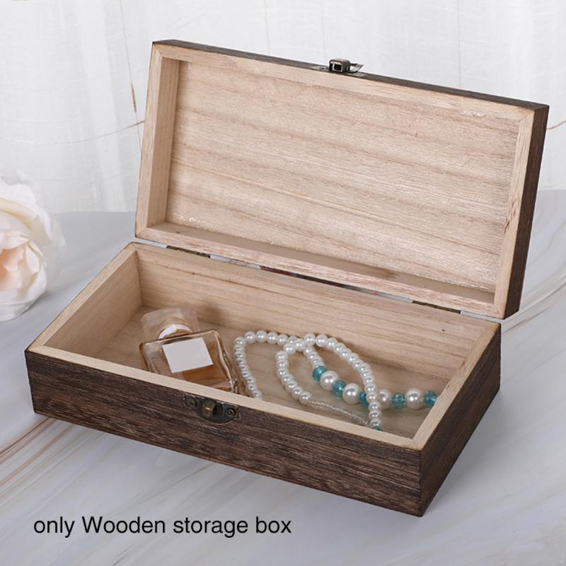 Дорожный органайзер для мелочей, бытовой Органайзер для ювелирных изделий, компактный деревянный ящик для хранения с замком и крышкой, пыле...