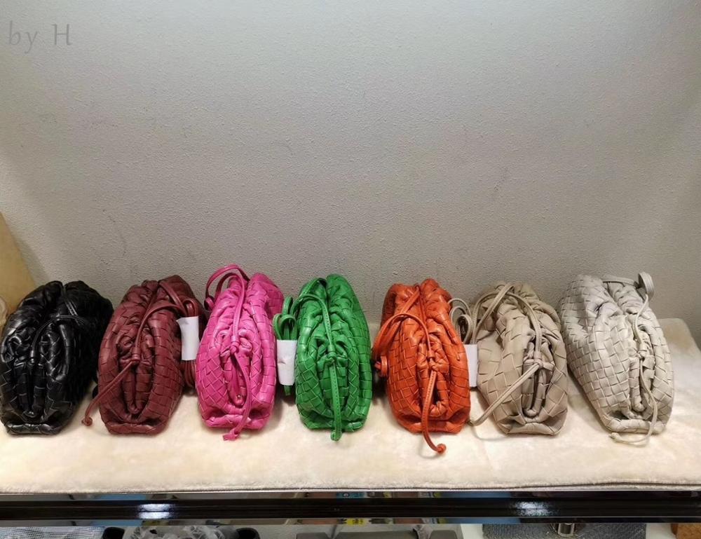 by H 2020 PU Newest Crossbody Bag Spring Colors Women's Braid Small Purse 22 CM Blue Clutch Fashion Designer Pouch Mini Handbag