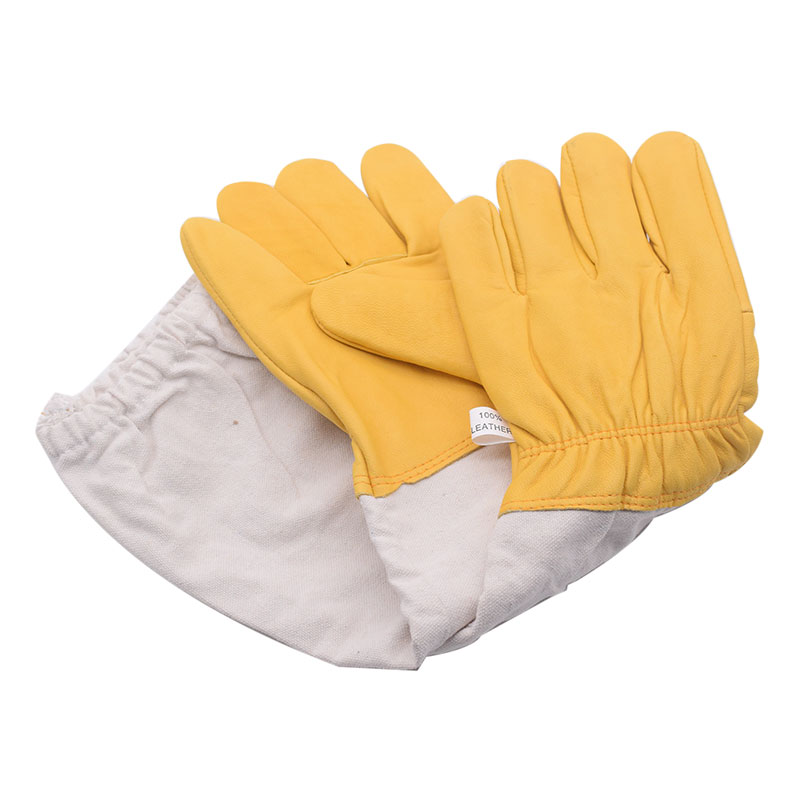 Image 2 - Yellow Gloves Sheepskin Anti Bee Beekeeping Tools For Beekeeper Protective Glove Canvas Beekeeping Equipment Parts 2020NewProtective Clothing Accessories   -