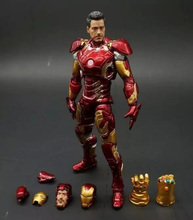 The Avengers IronMan Action Figure Model 18-20cm MK42 MK43 Iron Man Doll PVC ACGN figure Toy Brinquedos Anime kids Toys the dark knight batmobile tumbler action figure 1 8 scale painted figure batman 043 batmobile doll pvc acgn figure toy anime