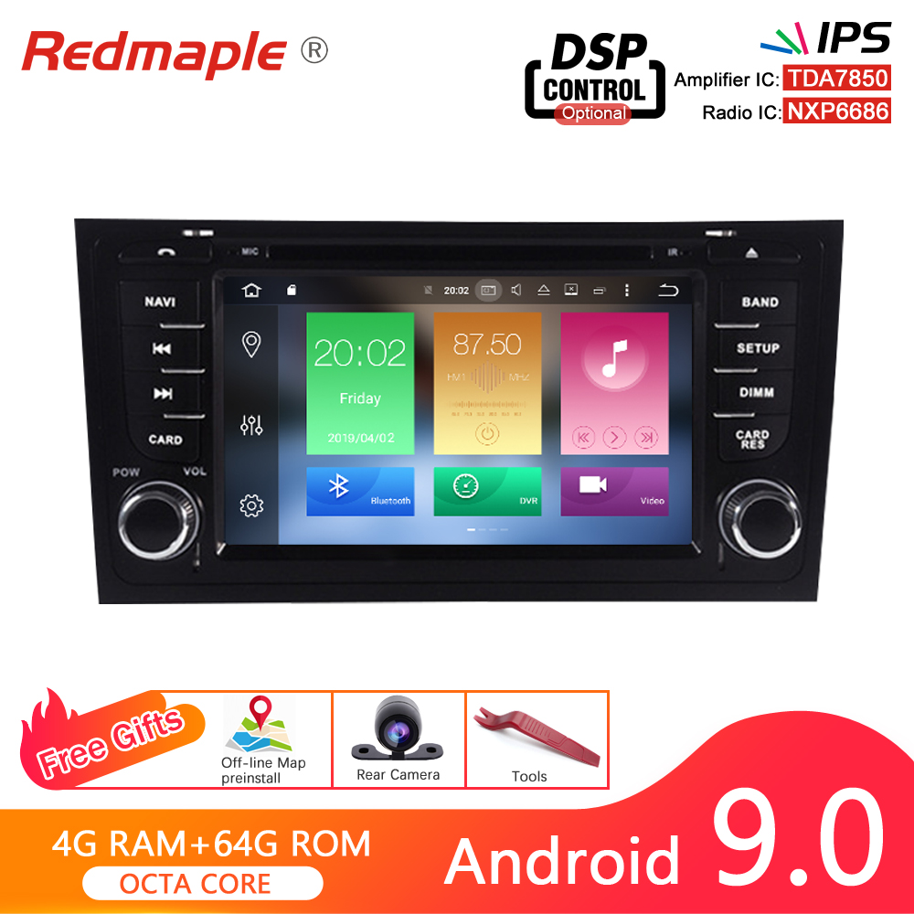 <font><b>Android</b></font> 9.0 Car DVD player GPS Navigation Multimedia Stereo For <font><b>AUDI</b></font> <font><b>A6</b></font> 1997-<font><b>2004</b></font> S6 1997-2007 RS6 1997-<font><b>2004</b></font> Auto Radio Audio image