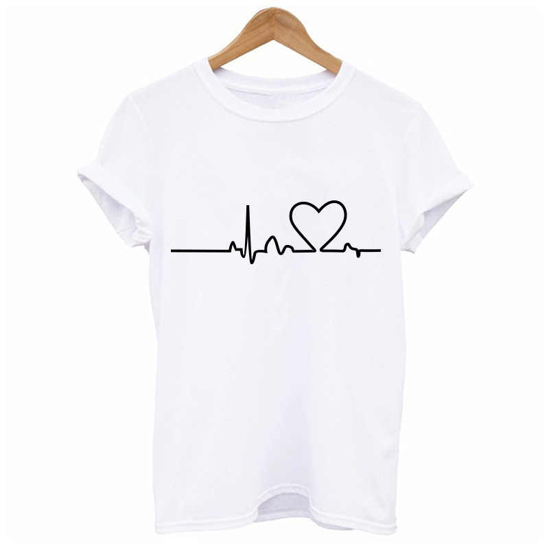 2018 New Harajuku Love Printed Women T-shirts Casual Tee Tops Summer Short Sleeve Female T Shirt Women Clothing