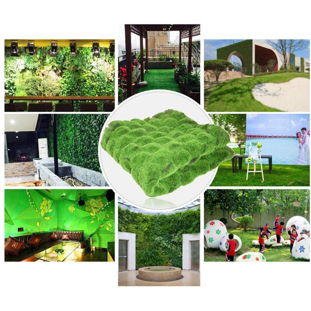 High Quality 1M X 1M Straw Mat Green Artificial Lawn Carpet Fake Turf Home Garden Moss Home Floor DIY Wedding Decoration Grass