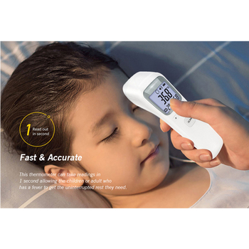Baby Infrared Electronic Thermometer Without Battery LCD Digital Non-contact IR Infrared Thermometer Forehead Temperature Meter