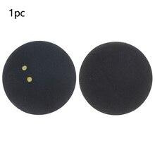 Спортивные два с желтыми точками прочные соревнования резиновый сквош мяч 4 см Профессиональный плеер круглый тренировка маленькая эластичность низкая скорость
