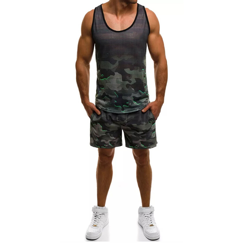 Men's Suits New Men's Casual Sports Camouflage Suit For Summer 2019