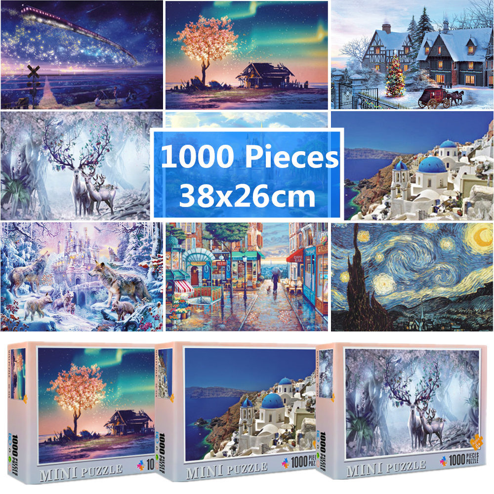 Jigsaw Puzzle 1000 Pieces 38x26 cm Assembling Picture Puzzle For Adults Educational Toys Puzzles Pare Adultos 1