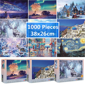 Jigsaw Puzzle 1000 Pieces 38x26 cm Assembling Picture Puzzle For Adults Educational Toys Puzzles Pare Adultos(China)