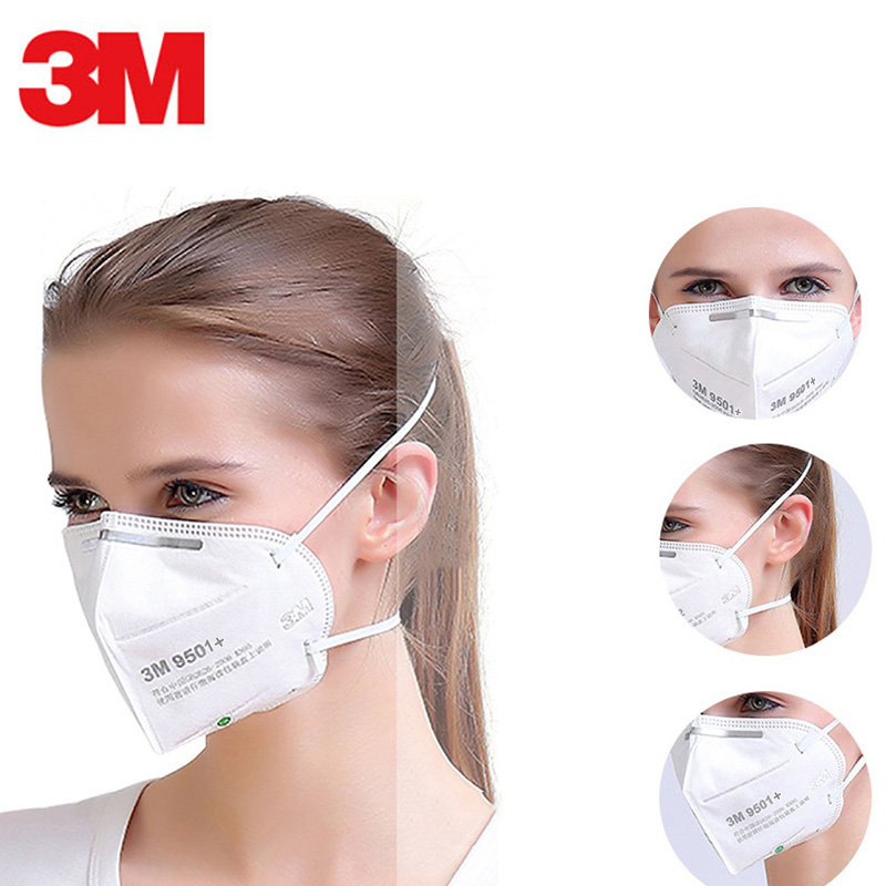 3M Mask 9501+ 9502+ Respirator Masks Multi Layer Filter Anti-dust  PM2.5  Particulate Riding Protective Mouth Face Safety Mask