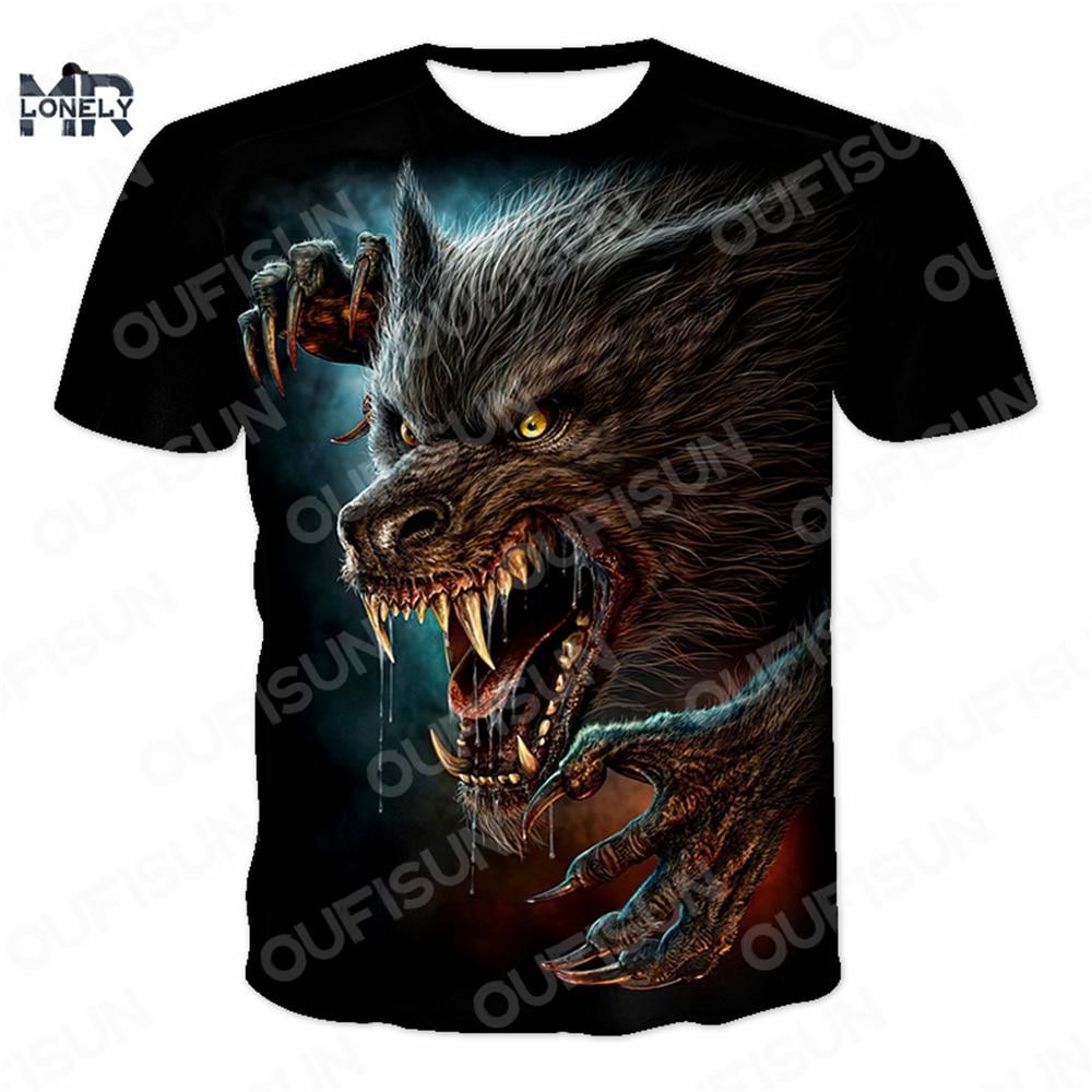 Skull Men's T-Shirts Hip Hop 3D T Shirts Horror O-Neck T-shirts Summer Fashion Tops Boys Clothing Oversized Size Street Clothing