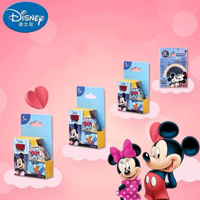Disney Mickey Stationery Tape Cartoon 5 Meters DIY Paper Tape Masking Tape Stationery Boy Girl Office School Supplies Washi