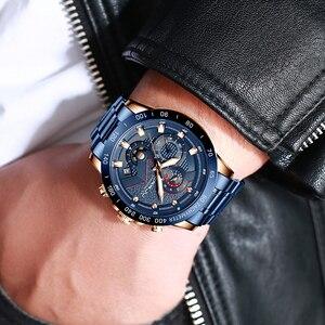 Image 4 - CRRJU Fashion men watches Top Luxury Brand Chronograph Wristwatch male Waterproof Sport Quartz watch men clock relogio masculino