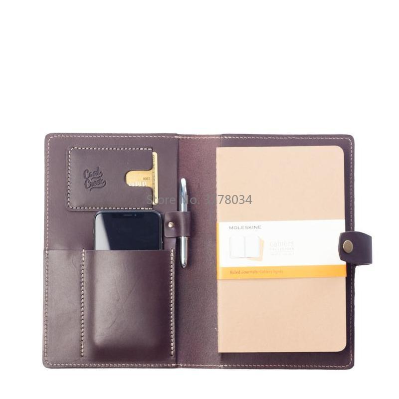 Cuir découpé pour portefeuille en cuir Moleskine grands cahiers à couverture souple Wickett Craig pleine fleur convient au Journal en cuir A6/A5