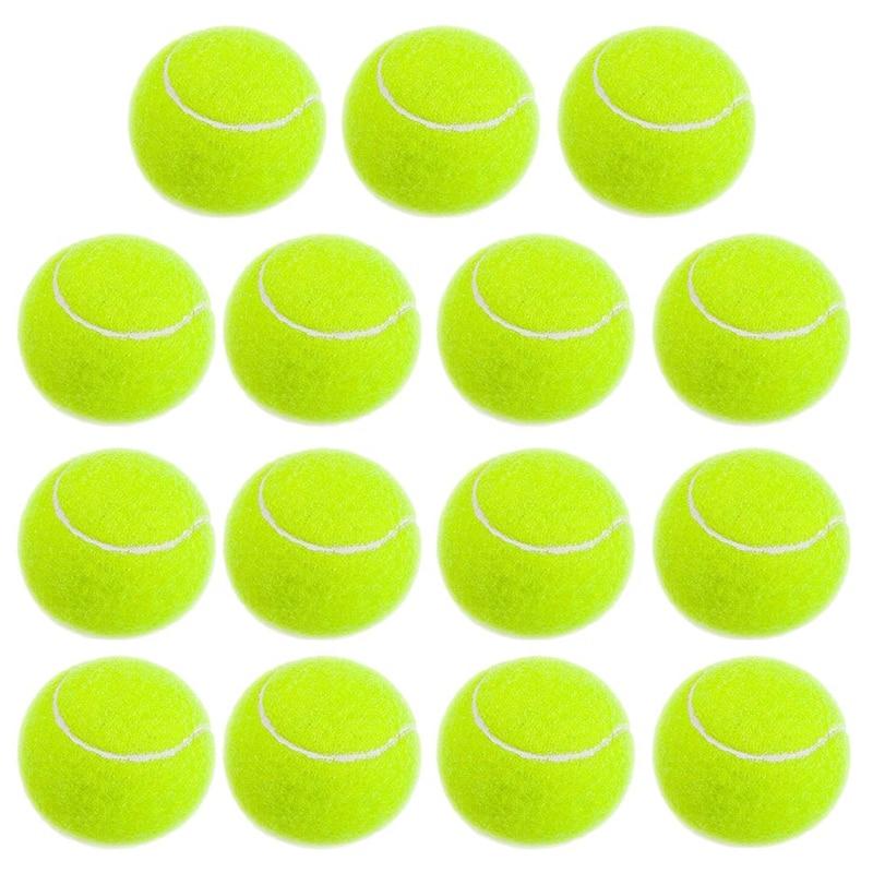 Practice Tennis Balls, Pressureless Training Exercise Tennis Balls, Soft Rubber Tennis Balls Children Beginners Pet, Pack Of 15