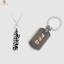 Hot Movies Fast & Furious Hobbs and Shaw Cross Necklace Mens Jewelry Pendant Keychain Accessories Gift Amulet