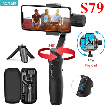 Hohem iSteady Mobile Plus Handy Gimbal 3 Axis Handheld Stabilizer for Smartphone iPhone 11/11 Pro/X XS Samsung S10, S9, Note 9/8
