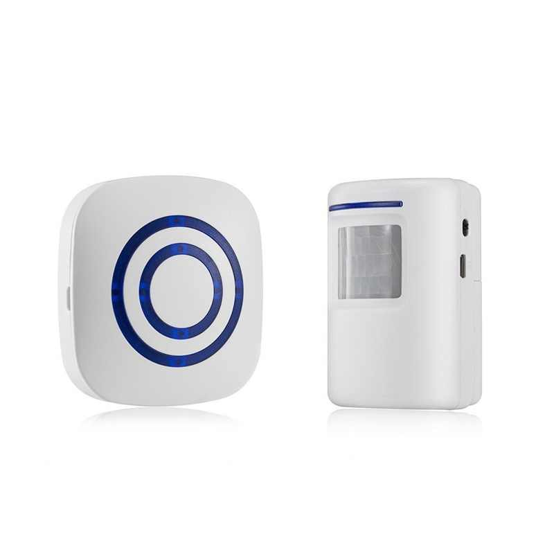 Hot 3C-Door Carillon, wireless Porta Rivelatore Del Sensore di Movimento di Affari Smart Visitatore Campanello di Sicurezza Domestica Vialetto di Allarme con 1 Plug-