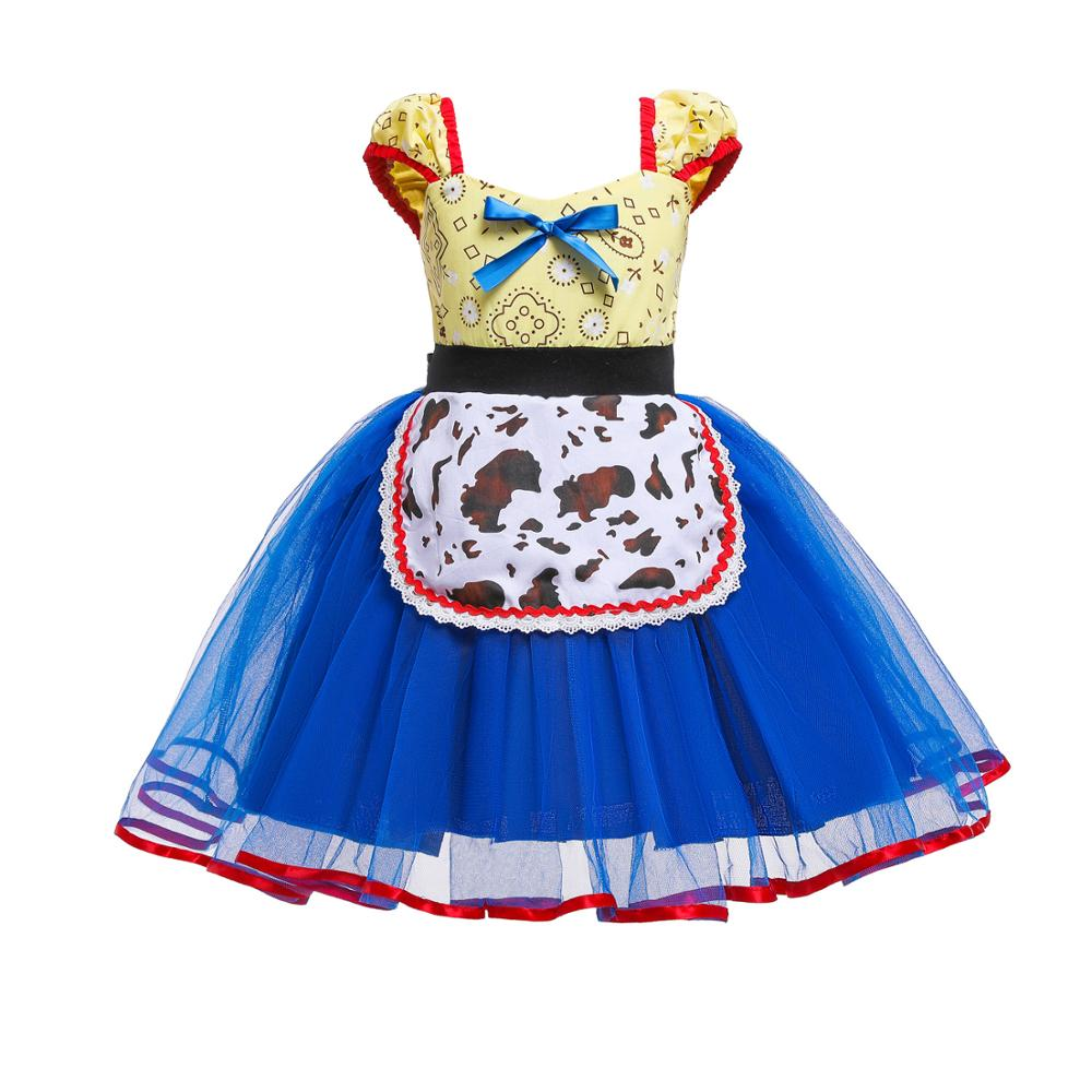 Image 2 - Summer Toy Story 4 Bo Peep Costume Cosplay Girls Dress Halloween Costume For Kids Carnival Party Dress Up ClothingGirls Costumes   -