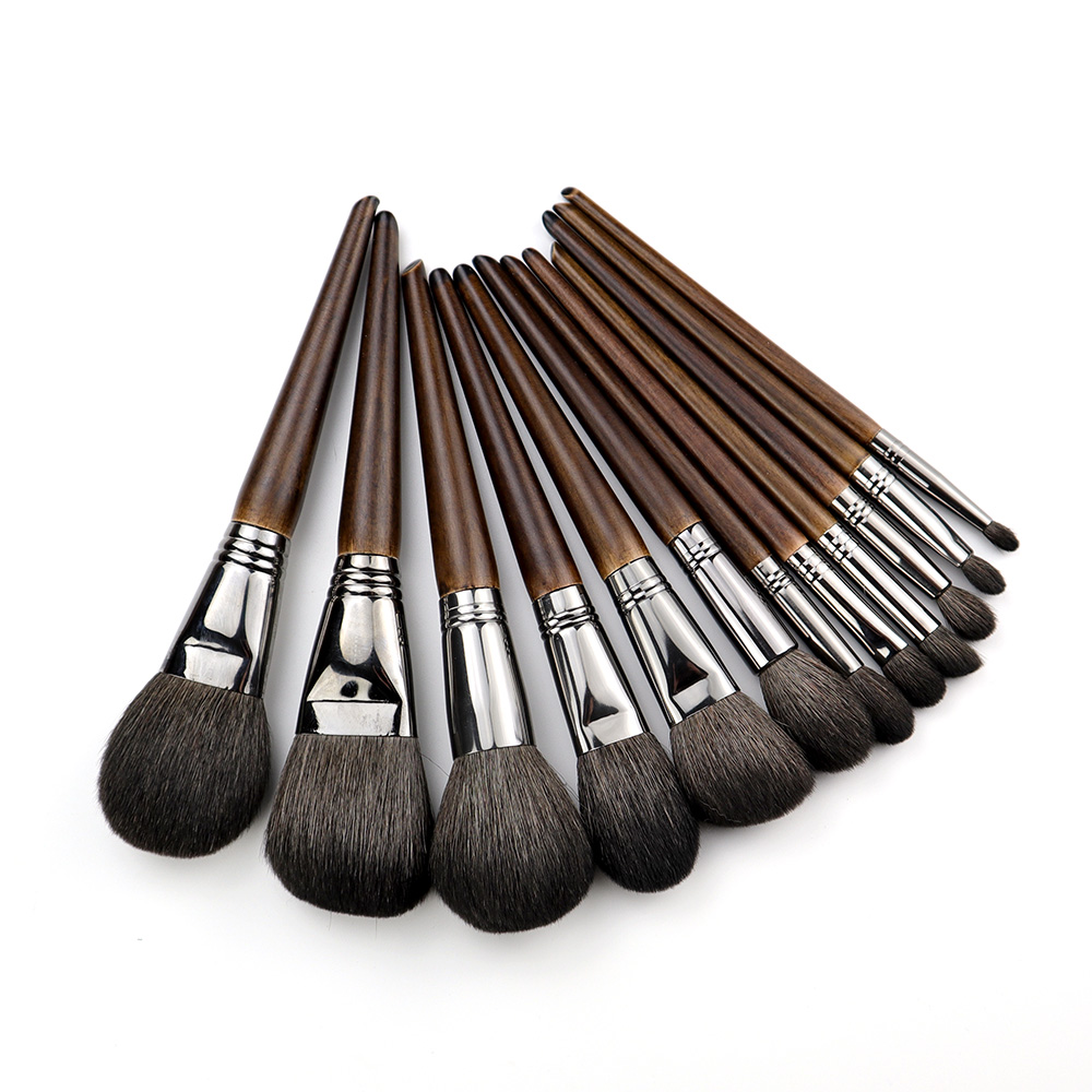 OVW Base de Pêlo de Cabra 6/12 pcs Pincel de Maquiagem Profissional Conjunto de Pincel de Maquiagem para o Rosto Em Pó Da Sombra de Olho de Blush de Contorno Geral
