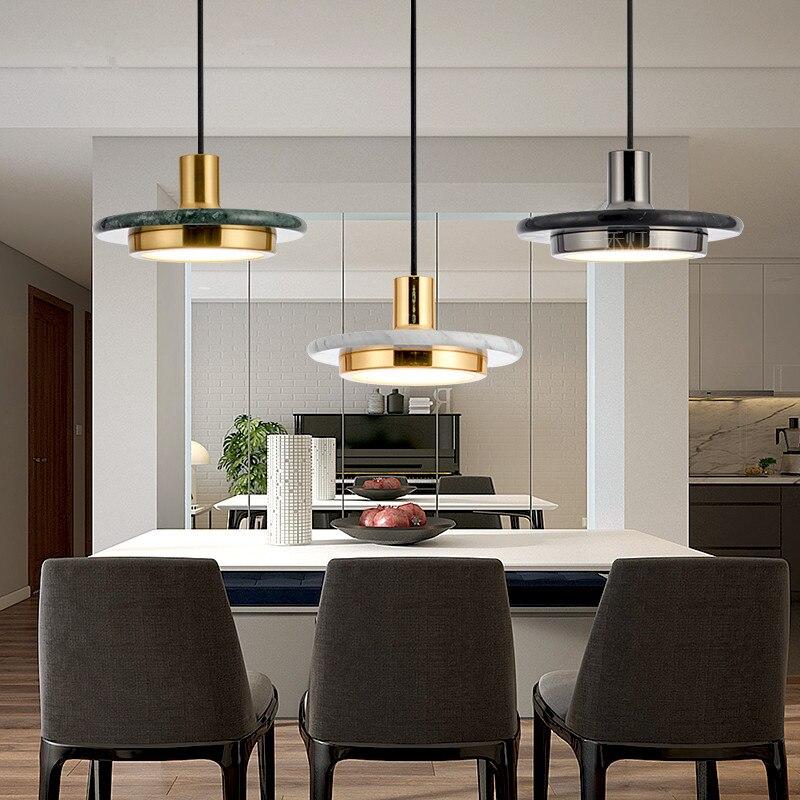 Современный классический мраморный подвесной светильник L Lustre гостиная столовая Ресторан Кухня Счетчик бар подвесные светильники Светоди
