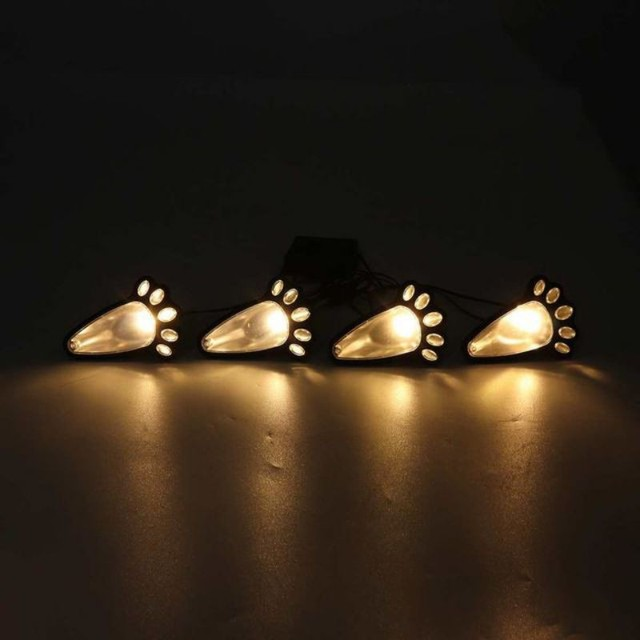 Lámpara de paisaje impermeable con luz brillante en forma de pata de oso mariposa con cadena de Luces Solares LED para decoración de Festival de jardín al aire libre