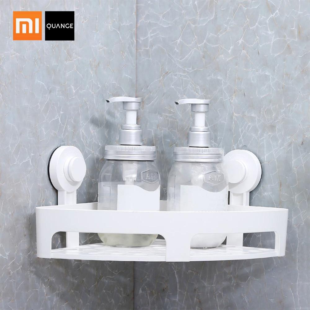 Xiaomi Quange Bathroom Accessories Punch Free Corner Bathroom Shelf Bathroom Fixtures Wrought Iron Storage Rack Kitchen Tripod