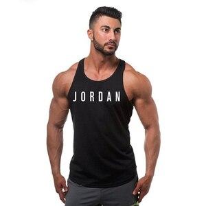 Мужская Трикотажная майка без рукавов, жилет с широкими плечами, жилет для бодибилдинга, хлопок, для лета, новинка Jordan 23