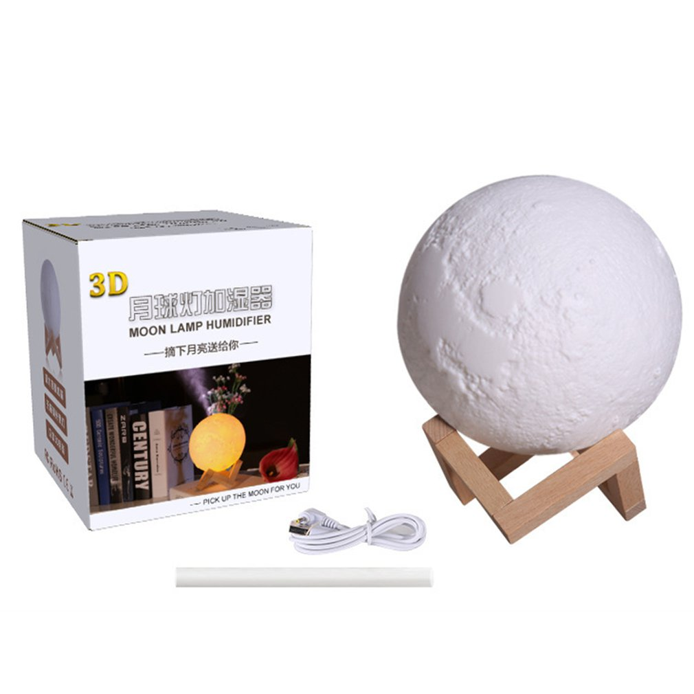 Air Humidifier 3D Moon Lamp Light Diffuser Aroma Essential Oil USB Ultrasonic Humidificador Night Cool Mist Purifier