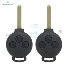 Remtekey 2pcs Remote car key fob for Smart Fortwo 2007 2008 2009 2010 2011 2012 2013 3 button 434 mhz 7941 chip remtekey remote car key fob 3 button for toyota sequoia sienna 2008 2009 2010 2011 2012 315 mhz gq43vt20t remtekey