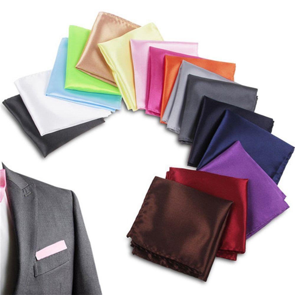 15 Colors Luxury Vintage Fashion Party Men's Handkerchief Groomsmen Men Pocket Square Hanky Wedding Business