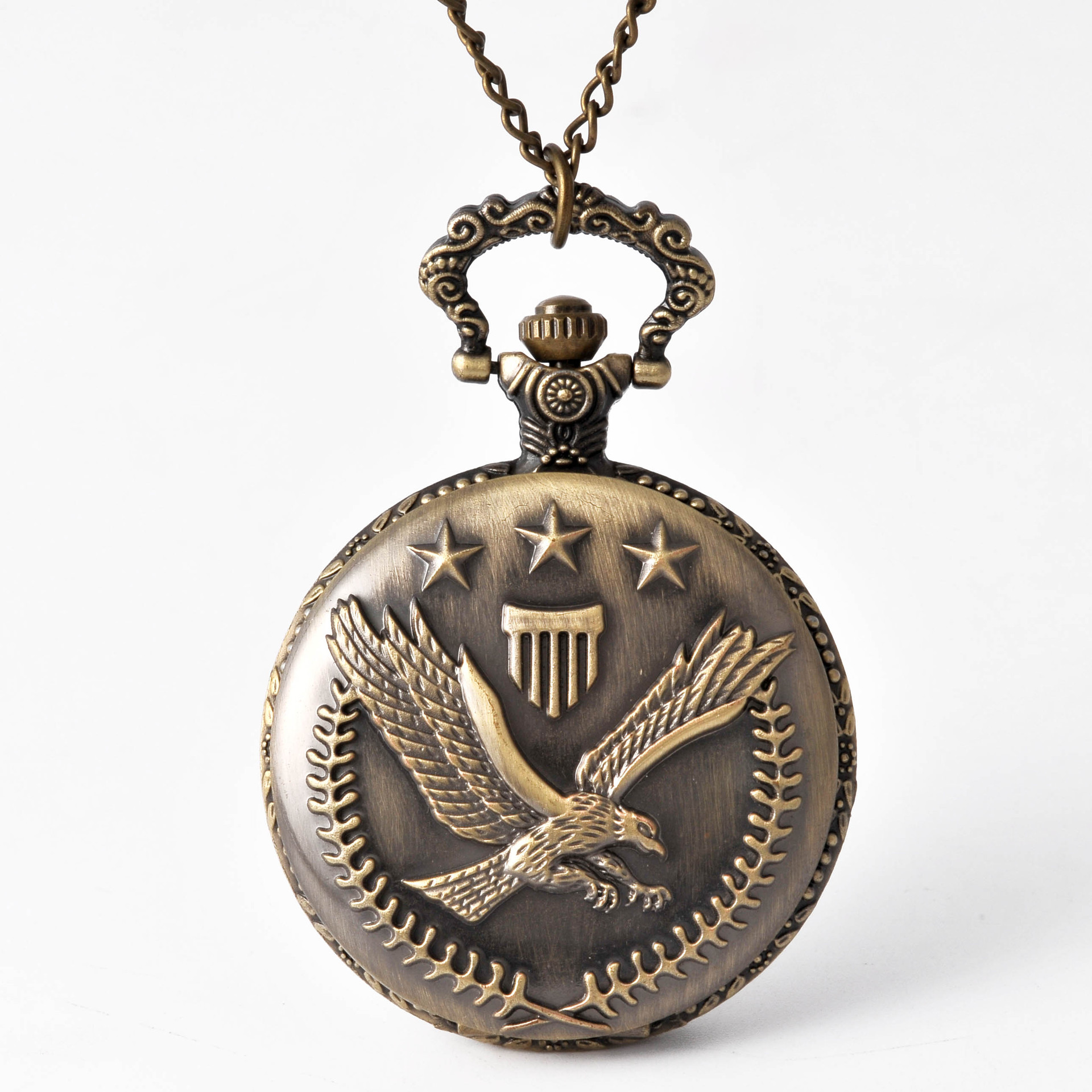 8155New Large Pocket Watch Personality Bronze Eagle