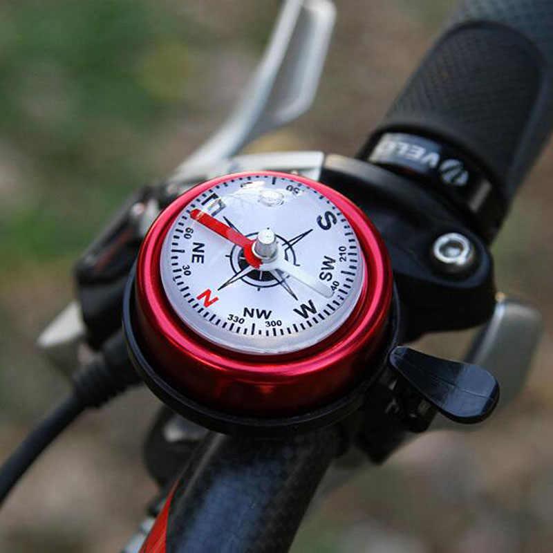 自転車のベルアルミ合金大声サウンドサイクリングベルハンドル安全自転車ベルコンパススポーツ MTB ロードバイク警報自転車ベル